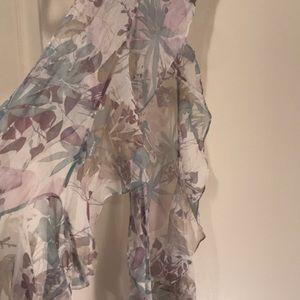 Beautiful, flowy, sheer, pastel  100% silk scarf